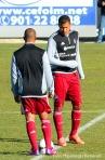 Salomón y Del Valle formaron pareja de ataque durante gran parte del partido